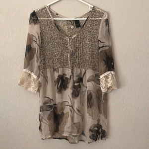 Day Trip sheer tunic